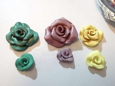 How to make clay rose necklace