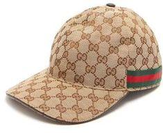d3311784f0b Gucci - Web Stripe Gg Logo Baseball Cap - Mens - Beige Gucci Hat