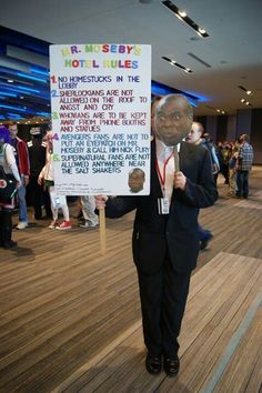 Mr. Moseby's hotel rules for fandoms