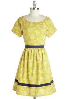 Fleur de Lease Dress, #ModCloth Such a great color and would make a wonderful picnic dress!