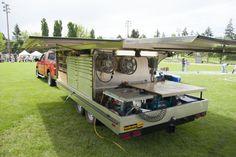 """Ron Paulk's """"winged"""" tool trailer. #paulk #Woodworking #carpentry #tools #paulk"""