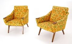 Pair of Danish Mid Century Modern Lounge Chairs Mama Bear Style | eBay