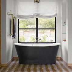Free Standing Bath on Tiled Floor