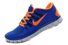 Nike Free Run 5.0 V2 Mens Sapphire Blue Orange - Freen Run