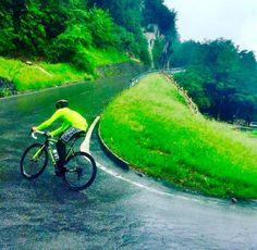 "Alberto Contador: ""Good training on a rainy day!""  Credit: @acontadoroficial"