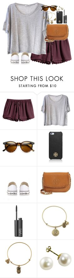 """""""County fair"""" by lauren-hailey ❤ liked on Polyvore featuring H&M, Clu, Tory Burch, Converse, NARS Cosmetics, Alex and Ani, women's clothing, women, female and woman"""