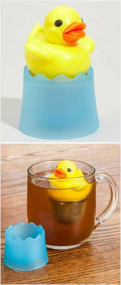 I don't even drink tea. I just want this so I hAve an excuse to have a rubber duck in my drinks!! @Shannon Mason