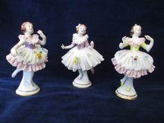 Set of 3 Rare Antique German Porcelain Aelteste Volkstedter Ballerina Figurines on Etsy, $175.00