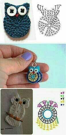 Crochet accessories 353603008245188015 - Trendy Crochet Keychain Owl Key Chains Ideas Source by NathBruRos Crochet Diagram, Crochet Motif, Crochet Doilies, Crochet Hooks, Knit Crochet, Crochet Owl Applique, Crochet Keychain Pattern, Crochet Appliques, Crochet Flower Patterns