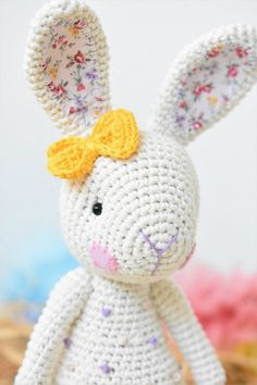 Downloadable pattern written in English using US terminology. Candy bunny will delight kids with her sweet look and yummy candy like dots covering her body. You will only need single crochet for making the pieces, but be prepared for experienced sewing techniques and some basic knowledge