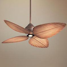 """552"""" Minka Aire Indoor Outdoor Gauguin Ceiling Fan (priced $399 at Lamps Plus) Fan height is 16"""", Blade span 52"""""""