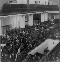 """Immigrants just arrived from Foreign Countries, Immigrant Building, Ellis Island, New York Harbor."", 1904 [[MORE]] This image is available from the United States Library of Congress's Prints and Photographs division under the digital ID cph.3a17784."