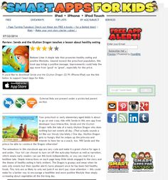 Smartappsforkids.com made a great review about Senda and The Glutton Dragon!
