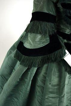 Ensemble, 1858, Silk, American, Basque Bodice sleeve detail