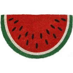 @Overstock - This beautifully designed doormat will enhance your entry way or patio. The hand-stenciled doormat is made with fade-resistant dyes and dirt-trapping natural coconut fibers, and features a non-slip backing.http://www.overstock.com/Home-Garden/Watermelon-Non-slip-Coir-Doormat/6534513/product.html?CID=214117 $33.49