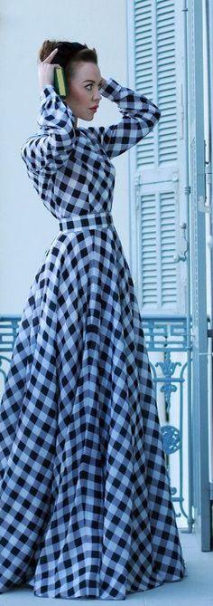 #Blue#FashionLuxurydotcom: Ulyana Sergeenko-What a gorgeous dress!