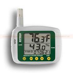 http://handinstrument.se/termometer-r1288/datalogger-for-temperatur-och-luftfuktighet-53-42280-r1457  Datalogger för temperatur och luftfuktighet  Triple LCD visar luftfuktighet, temperatur och datum (år, månad och dag)  Programmerbar från knappsats eller PC  Valbar dataregistreringsfrekvens  Programmerbara hörbara och visuella larm  Vägg-, skrivbords- eller stativfäste  Kalibreras via saltflaskor med standardkoncentration som kan köpas till  Komplett med Windows ® kompatibel...