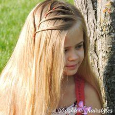 Fun chevron detail in Ashton's hair. We were inspired by babesinhairland.