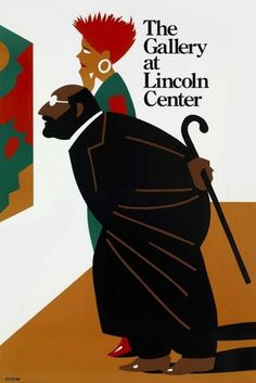 Milton Glaser - Poster - 1990 - The Gallery at Lincoln Center - Graphic Design - Illustration - Advertising Vintage Graphic Design, Graphic Design Illustration, Illustration Art, Milton Glaser, World Trade Center, Branding, Pop Art, Museum Poster, Heart Poster