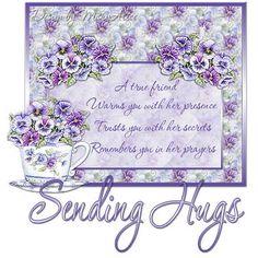 Purple Kisses and Hugs GIF | Love and romance :: Hugs and kisses ::