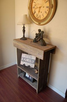 Farmhouse Entry Table Rustic Furniture Country by TRUECONNECTION