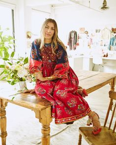 """""""Traveling and learning about different material cultures was very much a part of my upbringing,"""" she shared with The Window, noting that many of her pieces are handcrafted by artisans in Peru and India. """"A hand-dyed or –embroidered garment has a different emotional aspect. It adds a story to the garment that feels very true."""""""