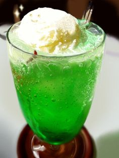 A Japanese Summer Standard: Melon Soda with Ice Cream