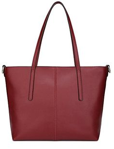 Ilishop High Quality Womens New Fashion Handbag Genuine Leather Shoulder Bags Tote Bags Hot Sale Wineredsmall -- Check out the image by visiting the link. (This is an affiliate link) Fashion Handbags, Purses And Handbags, Leather Handbags, Handbags Michael Kors, Michael Kors Bag, Large Shoulder Bags, Womens Purses, Real Leather, Leather Shoulder Bag