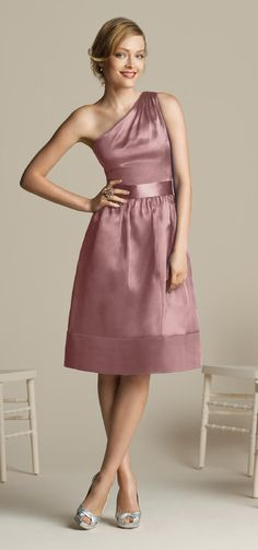 Dusty rose bridesmaid dress - After Six (color more than actual dress)