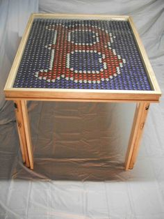 Hand Crafted Boston Red Sox Table. $700.00, via Etsy.