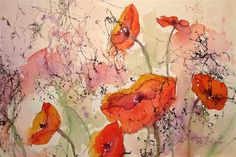 "Daily Paintworks - ""Poppies"" - Original Fine Art for Sale - © Margie Whittington"
