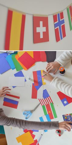 World Cup flag making: the global discussions that come from this craft are worth every minute!