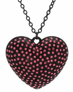 BLACK ROSE HEART PENDANT