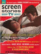 SCREEN STORIES May 1969 Elizabeth Taylor, Elvis Presley, Raquel Welch, Streisand