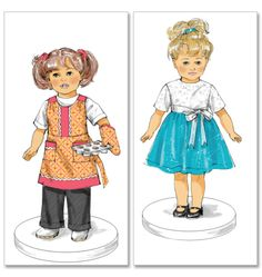"""18"""" doll clothes - Retro - 2 outfits"""