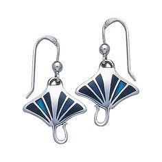 Manta Ray Sterling Silver Hook Earring TE2500