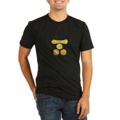 Mori Mon Japanese samurai clan gold T-Shirt on CafePress.com
