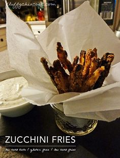 Low Carb Fried Zucchini – Fries and Chips -Good bye French fries, it's been real. (It's not you. It's me.)