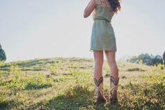 Cowboy Boots and Summer Dress
