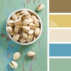 azul verdoso, beige, celeste, celeste claro, celeste vivo, color marrón pantano, color verde pistacho, elección del color, marrón, pantanoso, tono crema suave, tonos fríos, turquesa, verde pistacho.