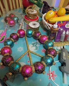 Ornament Wreath, Ornaments, Peace, Wreaths, Jewelry, Decor, Jewlery, Decoration, Door Wreaths