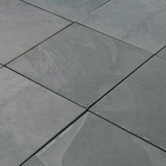 """Slate flooring for kitchen and front entry (Montauk Blue / 12""""x12"""")"""