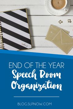How many weeks until summer?! This SLP shares 5 tips to help you organize your speech room--from speech therapy materials to paperwork--and get ready for summer break!