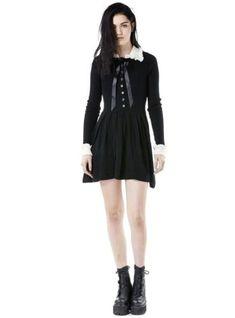 #ad Wednesday Addams Dress UNIF Gothic Medium Halloween http://rover.ebay.com/rover/1/711-53200-19255-0/1?ff3=2&toolid=10039&campid=5337950191&item=292496941366&vectorid=229466&lgeo=1