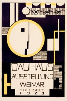 This Bauhaus poster reminds me of The Great Gatsby. It has a 1920's feel to it by its colors and minimal designs.