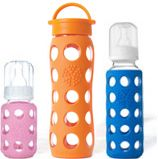Lifefactory - BPA-Free, Glass Bottles with Silicone Sleeves, Beverage Bottles, BPA-Free Baby Bottles, Silicone Teethers