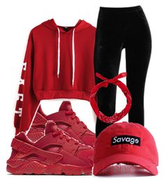 """""""❤️"""" by leonnaw ❤ liked on Polyvore featuring NIKE and WithChic"""