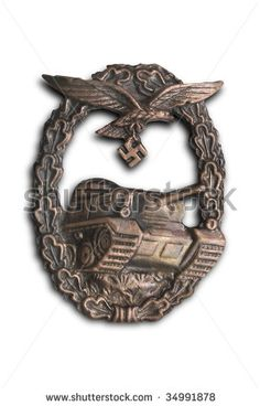 German breastplate (badge) for tank attack (for Luftwaffe).