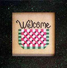 Watermelon Welcome Free Cross Stitch Pattern
