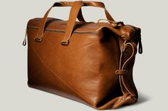 Hard graft leather weekend bag